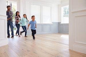 family entering new home | Be Informed Home Inspections | first-time homebuyers Fort Worth
