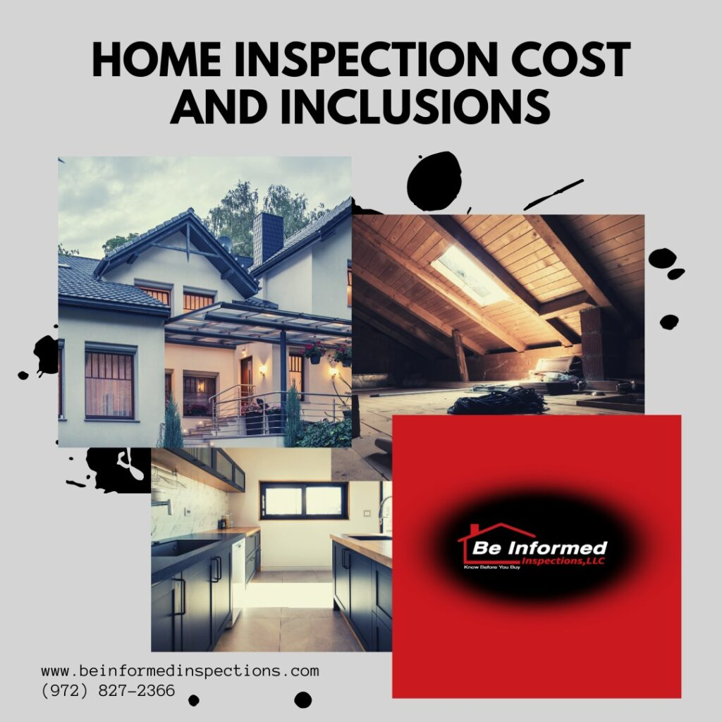 Home Inspection Costs and Inclusions