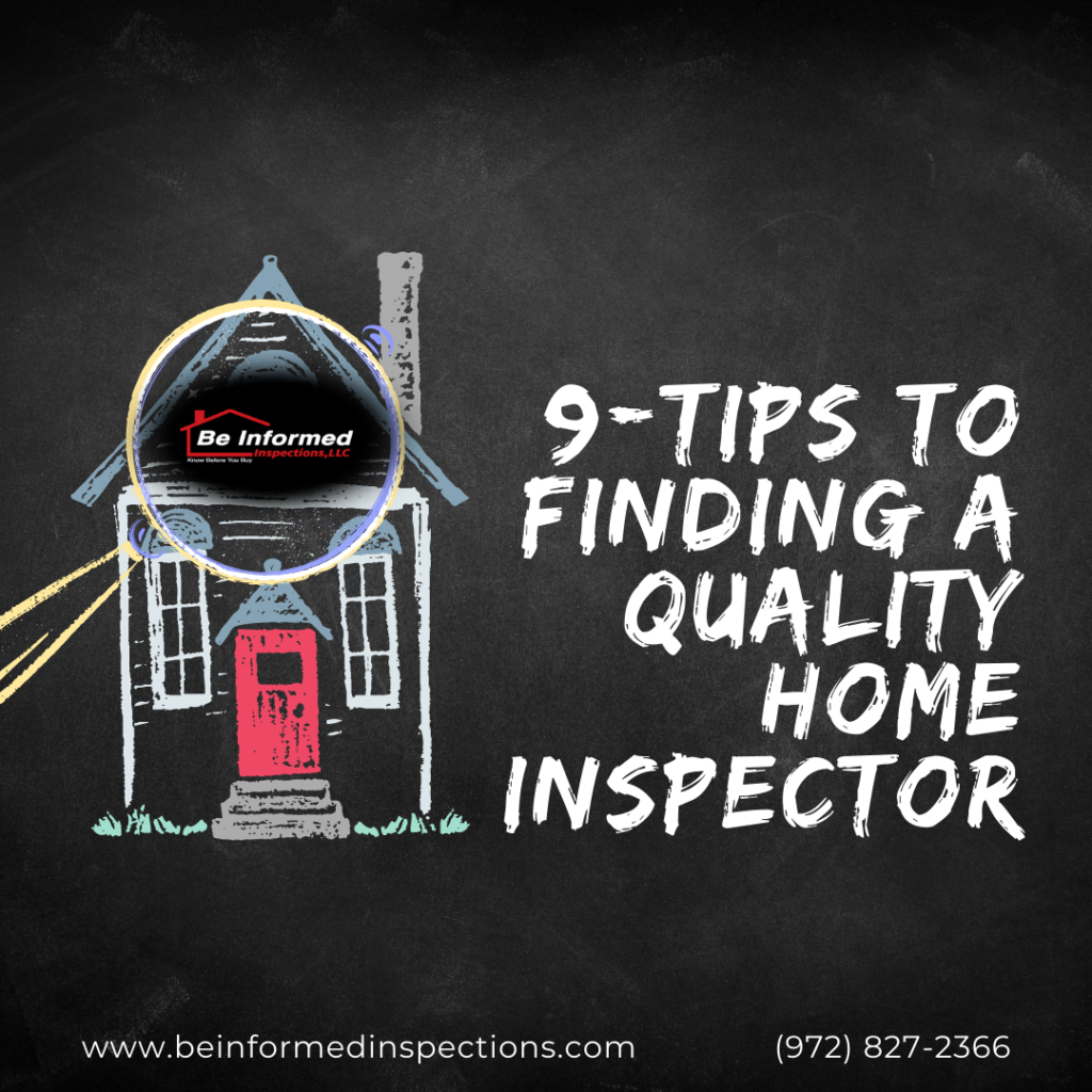 home inspection Dallas tx - 9-Tips To Finding A Quality Home Inspector in Dallas TX